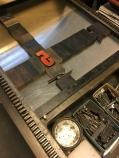 wood type locked up on the press