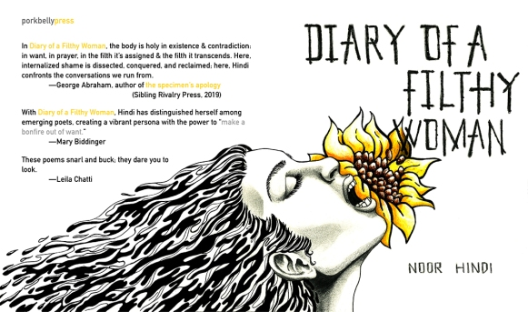 Noor Hindi's DIARY OF A FILTHY WOMAN (cover art: Tanya Gonzalez)